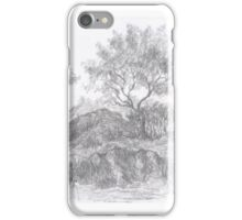 Two trees on hill iPhone Case/Skin
