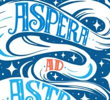 Per Aspera Ad Astra Latin phrase Sticker