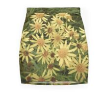 yellow garden Mini Skirt