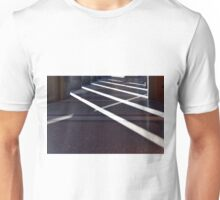 Strong shadows from columns in a portico Unisex T-Shirt