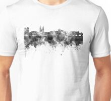 Prague skyline in black watercolor  Unisex T-Shirt