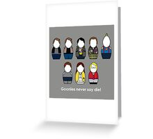 The Goonies - version 2 Greeting Card