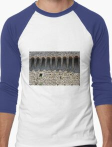 Stone wall with small structural arches Men's Baseball ¾ T-Shirt