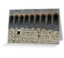 Stone wall with small structural arches Greeting Card