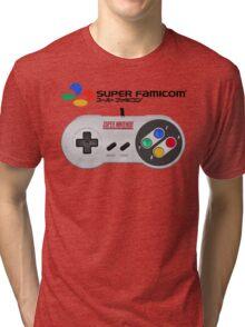 Super Famicom controller and logo Tri-blend T-Shirt