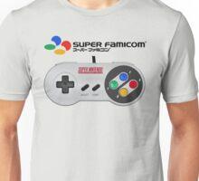 Super Famicom controller and logo Unisex T-Shirt