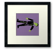 Anatomy of a Monster: Frankenstein Framed Print