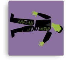 Anatomy of a Monster: Frankenstein Canvas Print