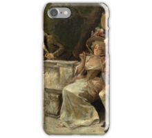 ANTONIO LONZA (ITALIAN, ) white swan iPhone Case/Skin