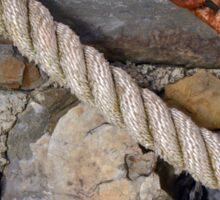 Stone texture with rope and steel chain Sticker