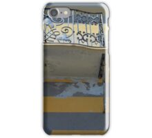 Balcony detail with thin metal decoration iPhone Case/Skin