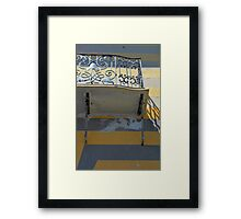 Balcony detail with thin metal decoration Framed Print