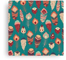 Tribal feather pattern 019 Canvas Print