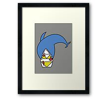 Jaws (without quote) Framed Print