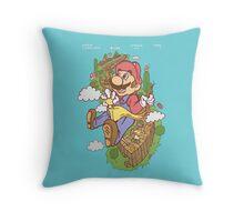 Mario Eff's Up World 1-1 Throw Pillow