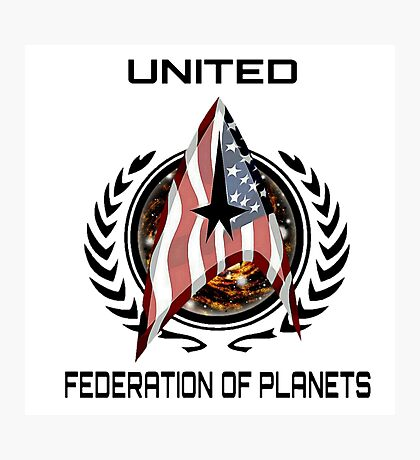 UNITED FEDERATION OF PLANETS Photographic Print