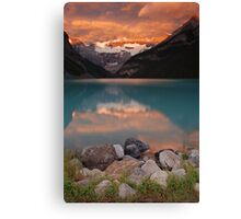 Sunrise at Lake Louise Canvas Print