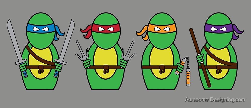 Teenage Mutant Ninja Turtles (without quote) by Awesome Designing.com