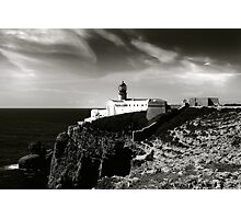 Cabo san Vicente, Portugal Black and White Photographic Print