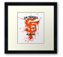 WE BLEED ORANGE Framed Print