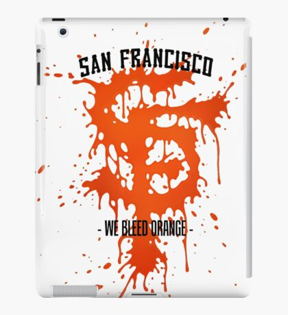 WE BLEED ORANGE iPad Case/Skin