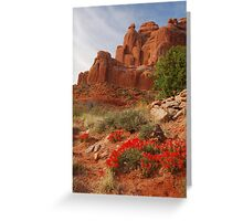 Paintbrush in Arches Greeting Card