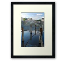 Out in the blue Framed Print
