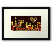 Hip Hop City Love Framed Print
