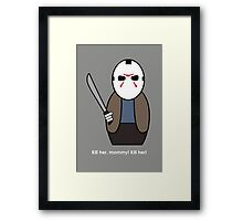 Friday the 13th (with quote) Framed Print