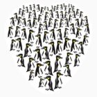 Penguins Clustered into a Heart by piedaydesigns