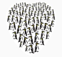 Penguins Clustered into a Heart T-Shirt