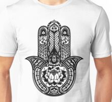 Black Lotus Hamsa Unisex T-Shirt