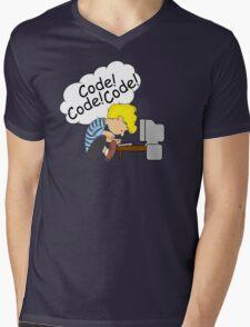 Code! Code! Code! Mens V-Neck T-Shirt