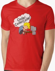 Code! Code! Code! Mens V-Neck T-Shirt