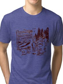 STRANGER THINGS - Dustin's Grass Valley Shirt - the original Tri-blend T-Shirt