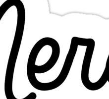 Merci script   French Sticker