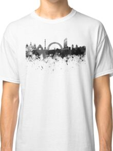 Kiev skyline in black watercolor Classic T-Shirt
