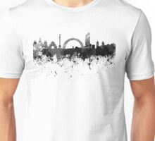 Kiev skyline in black watercolor Unisex T-Shirt