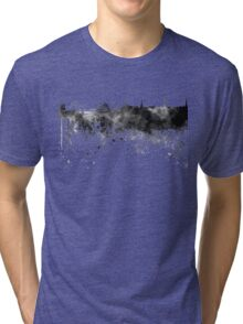 Riga skyline in black watercolor Tri-blend T-Shirt
