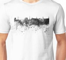 Riga skyline in black watercolor Unisex T-Shirt