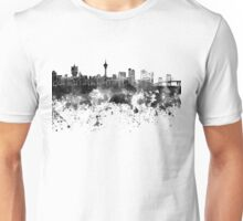 Macau skyline in black watercolor Unisex T-Shirt