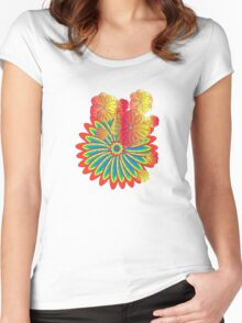 Flower explosion Women's Fitted Scoop T-Shirt