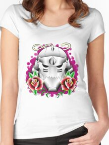 traditional alphonse elric helmet Women's Fitted Scoop T-Shirt