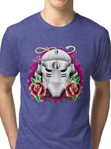 traditional alphonse elric helmet Tri-blend T-Shirt