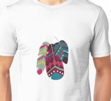 Tribal feather pattern 028 Unisex T-Shirt