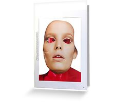 Secret Mask Face Collage ® Greeting Card