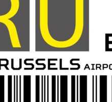 Destination Brussels Airport Sticker
