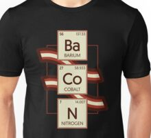 Bacon Funny Chemistry Periodic Table Of Elements Graphic Novelty Design Unisex T-Shirt