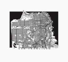 San Francisco Black and White Map Art - California, USA Kids Clothes