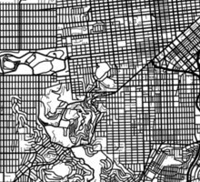 San Francisco Black and White Map Art - California, USA Sticker